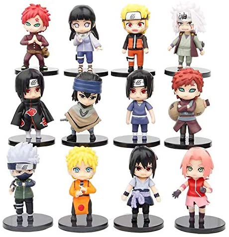 12 Pcs Ninja Collection Toy Set Action Figures Anime Party Favor Supplies