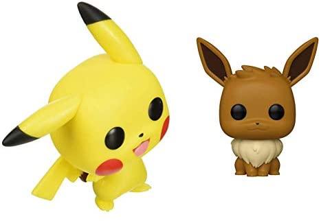 Funko Pop! Pokemon - Pikachu (Waving) Vinyl Figure & Pokemon - Eevee Multicolor, 3.75 inches