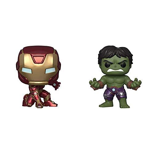 Funko Pop! Marvel: Avengers Game - Iron Man (Stark Tech Suit), Multicolor & Pop! Marvel: Avengers Game - Hulk (Stark Tech Suit), Multicolor, Model:47759