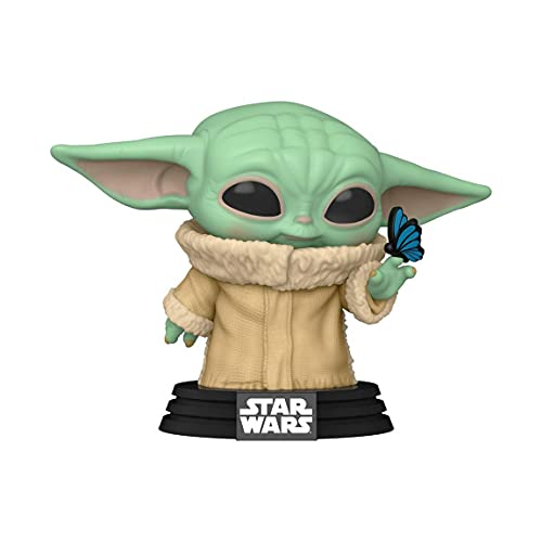 Funko Pop! Star Wars: The Mandalorian - The Child Grogu with Butterfly 468 Exclusive Bobblehead