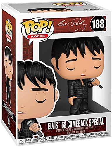 Funko Pop! Rocks: Elvis - '68 Comeback Special, Multicolour