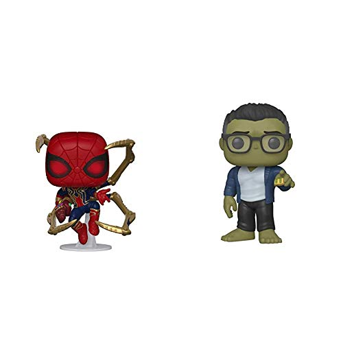 Funko Pop! Marvel: Avengers Endgame - Iron Spider with Nano Gauntlet, Multicolor (45138),3.75 inches & Pop! Marvel: Avengers Endgame - Hulk with Taco, Multicolor (45139)