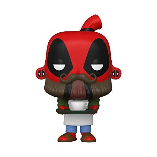 Funko Pop! Marvel: Deadpool 30th - Coffee Barista Multicolor, 3.75 inches