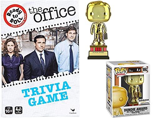 Bossman Pop Figure Michael Scott Trophy Award Dundie Bundled with NBC Dunder-Mifflin Game The Office Series Score! Paper Trivia 2 Items