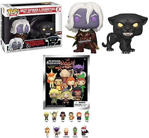 Can You Handle The Dungeons and Dragons: Funko Pop! Bundle Store Exclusive Drizzt Do'Urden & Guenhwyvar + Bonus The Cartoon Collectors Bag Clip Series 2 (Two Item Bundle)