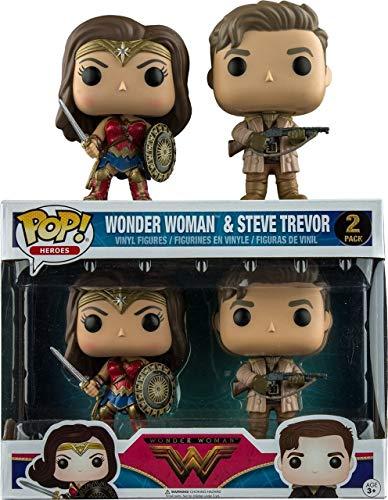 DC Wonder Woman Movie Funko POP! Movies Wonder Woman & Steve Trevor Exclusive Vinyl Figure