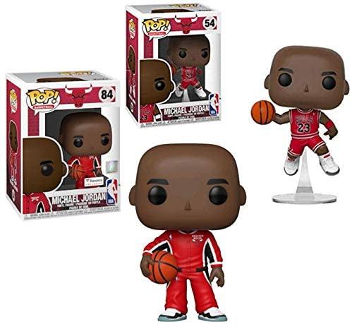 Dressed in Red: Michael Jordan Funko Pop! Bundle: Michael Jordan Chicago Red Warm Up Suit Exclusive 84 + Chicago Red Jersey 54 (Michael Jordan Bundle)