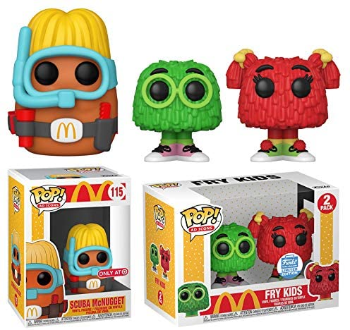 Fries Figure McDonalds Pop! Exclusive Fry Kids Bundled with Ad Icons Character Chicken Scuba McNugget 2 Items
