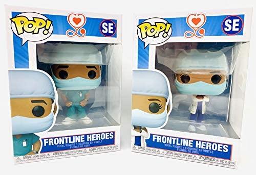 "Frontline Heroes Workers 3.75"" Male & Female Pop Figure Bundle Front Line"