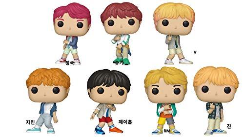 Funko (1) 37860 V (2) 37862 Jin (3) 37863 Jimin (4) 37867 RM (5) 37861 Jung Kook (6) 37864 Suga (7) 37865 J-Hope, BTS Vinyl Figures, Set of 7