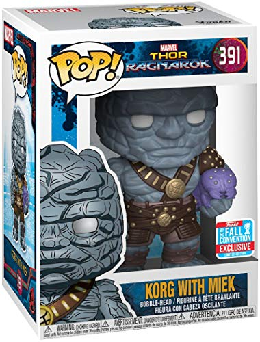 Funko 30763 POP Bobble: Marvel: Thor Ragnarok: Korg w/ Miek