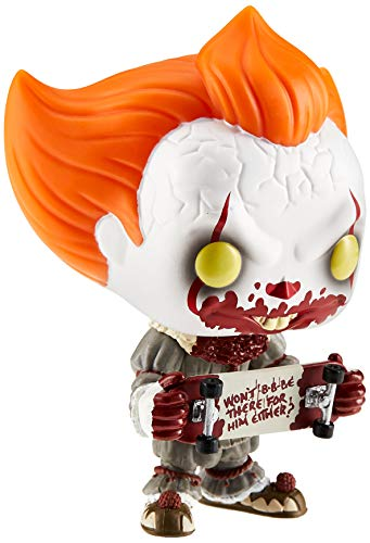 Funko 40628 IT Chapter 2 POP! Movies Pennywise Exclusive Vinyl Figure #778 [with Skateboard], Multicolour