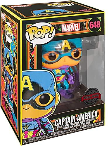 Funko 48845 Marvel Black Light Captain America Collectable Toy, Multicolour