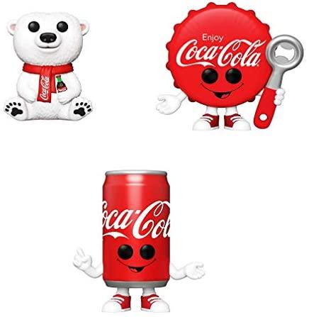 Funko Ad Icons: POP! Coca-Cola Collectors Set - Polar Bear, Coca-Cola Bottle Cap, Coca-Cola Can