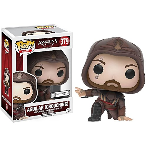 Funko Aguilar [Crouching] (LootCrate Exclusive) POP! Games x Assassin's Creed Vinyl Figure + 1 Free Video Games Themed Trading Card Bundle (12295)