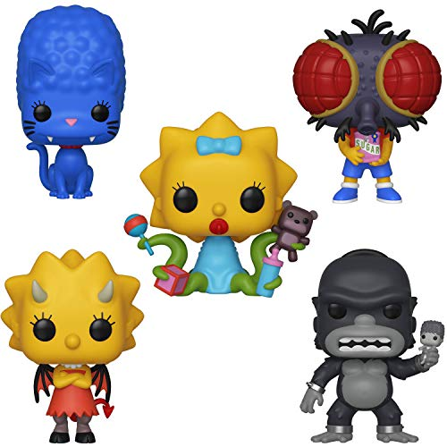 Funko Animation: Pop! Simpsons Series 3 Collectors Set - Panther Marge, Fly Boy Bart, Demon Lisa, King Homer, Alien Maggie
