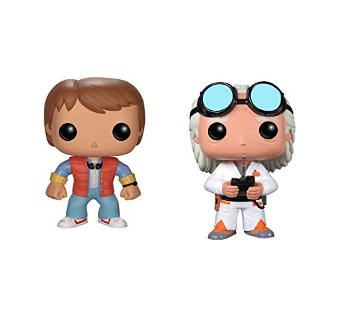 Funko Back to The Future Pop! Movie Doc Emmet Brown & Marty McFly Vinyl Collectors Set