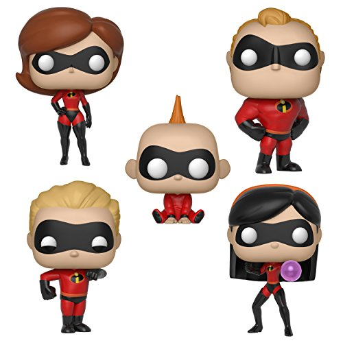 Funko Disney: POP! Incredibles Series 2 Collectors Set - Elasticgirl, Mr. Incredible, Violet, Dash, Jack-Jack