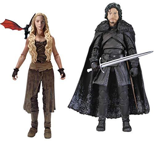"Funko Game of Thrones 6"" Legacy Action Figure Bundle: Daenerys & Jon Snow"
