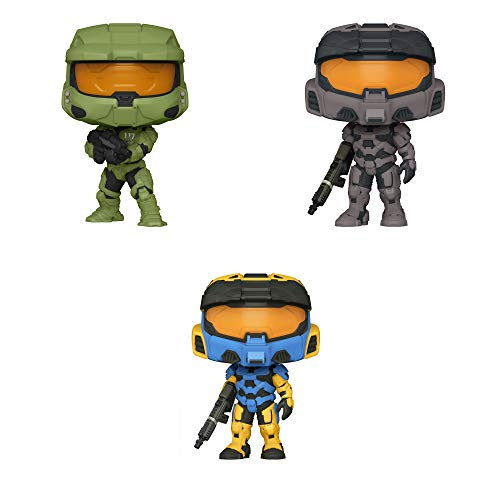 Funko Games: POP! Halo Infinity Collectors Set - Master Chief, Mark VII with Vakara, Mark VII with Vakara Deco, 3.75 inches