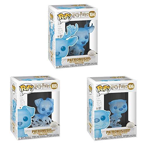 Funko Harry Potter : POP! Harry Potter Patronus Collectors Set - Patronus Harry Potter, Patronus Ron Weasley, Patronus Hermione