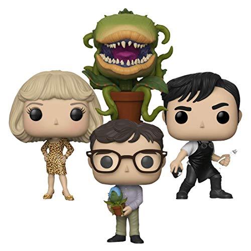 """Funko Little Shop of Horrors 3.75"""" Pop Figure 4pc Bundle with Seymour Krelborn, Orin Scivello DDS, Audrey Fulquad & Audrey II P"""
