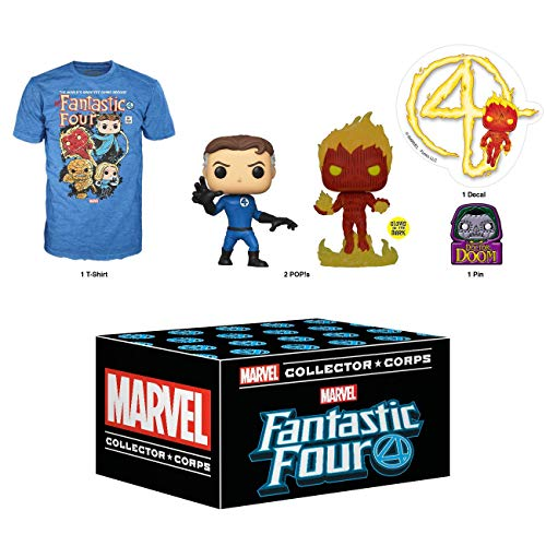 Funko Marvel Collector Corps Subscription Box, Fantastic Four - M, January 2020