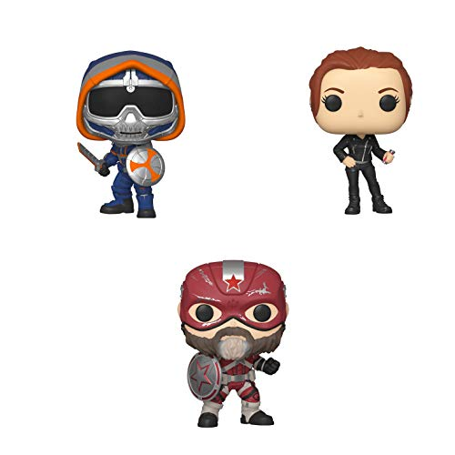 Funko Marvel: POP! Black Widow Collectors Set - Black Widow, Taskmaster with Shield, Red Guardian, 3.75 inches