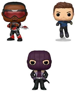 Funko Marvel: POP! The Falcon and The Winter Soldier Collectors Set - Falcon, Winter Soldier, Zemo
