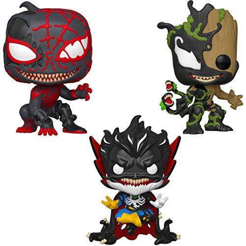 Funko Marvel: POP! Venom Collectors Series 3 Set 2 - Max Venom Groot, Max Venom Doctor Strange, Max Venom Miles Morales