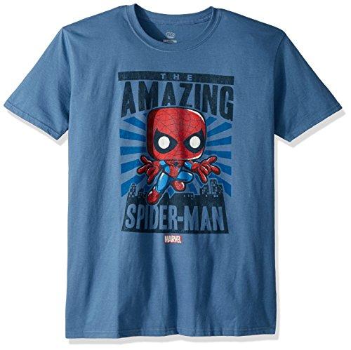 Funko Men's Marvel - Spider-Man City Poster, Gray, Medium