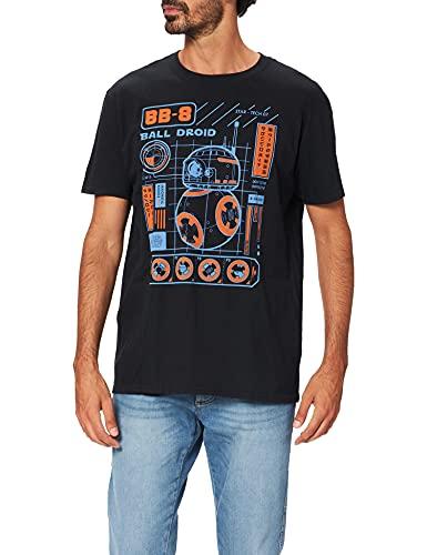 Funko Men's Pop! T-Shirts: Ep 7 - BB-8 Blueprint, Black, Large