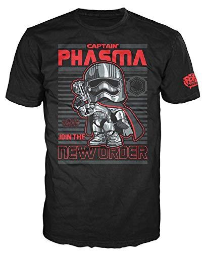 Funko Men's Pop! T-Shirts: Star Wars Ep 7 - Captain Phasma, Black, Small
