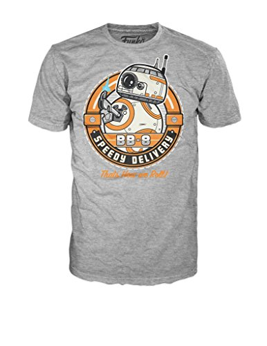 Funko Men's Star Wars - Bb-8 Speedy Delivery, Gray, Small