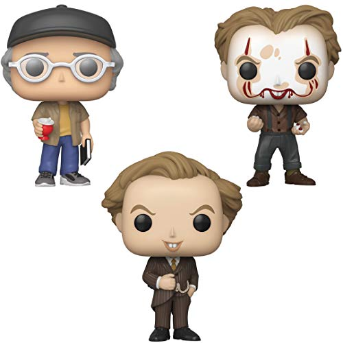 Funko Movies: POP! IT Chapter 2 Collectors Set 2 - Shop Ceeper, Pennywise with Partial Make up, Pennywise in Pinstripe Suit