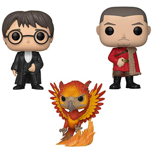Funko Movies: Pop! Harry Potter Collectors Set Yule Series 7 - Harry Potter, Viktor Krum, Fawkes