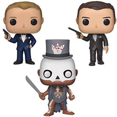 Funko Movies: Pop! James Bond Series 2 Collectors Set - Daniel Craig Casino Royale, Baron Samedi Live & Let Die, Pierce Brosnan Golden Eye