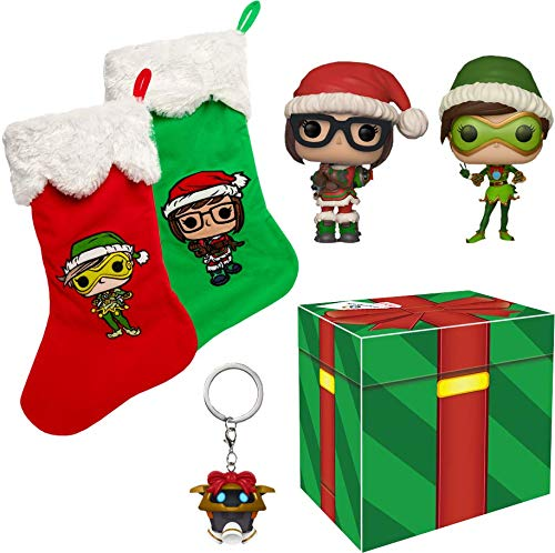 Funko Overwatch Pop! Exclusive Christmas Collector Box [Exclusive Mei & Tracer Christmas Skin Pops]