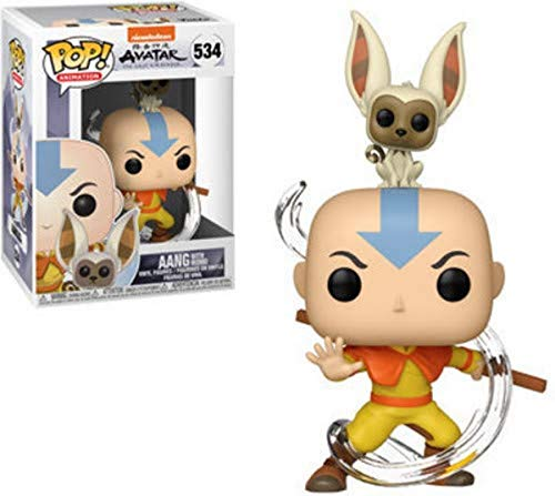 Funko POP! Animation: Avatar - Aang with Momo, Multicolor, Standard