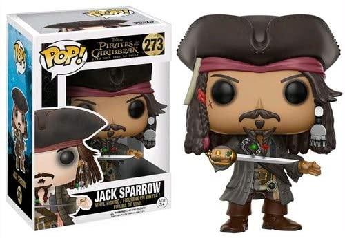Funko POP Disney Pirates of The Caribbean Jack Sparrow Action Figure,Brown