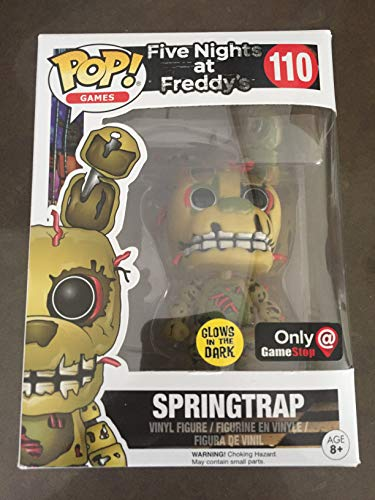 Funko POP! Five Nights at Freddys Glow Springtrap #110 Exclusive