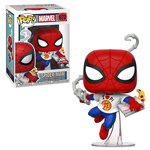 Funko POP! Marvel #672 - Spider-Man [with Pizza] Exclusive