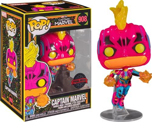 Funko POP! Marvel: Black Light - Captain Marvel 908