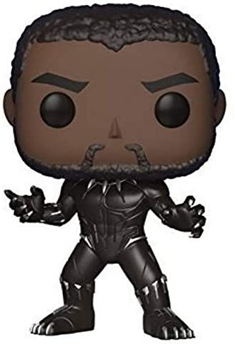 Funko POP! Marvel: Black Panther Movie - Black Panther (Styles May Vary) Collectible Figure Grey, 2.5 x 2.5 Inch
