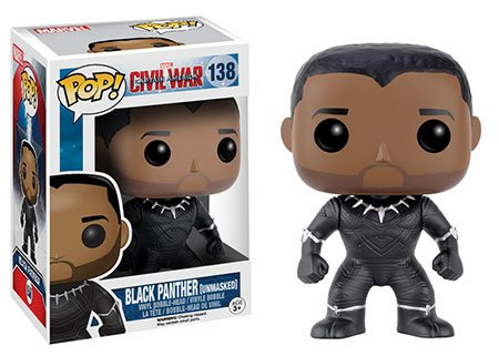 Funko POP! Marvel: Captain America Civil War #138 - Black Panther Unmasked (Walgreens Exclusive)