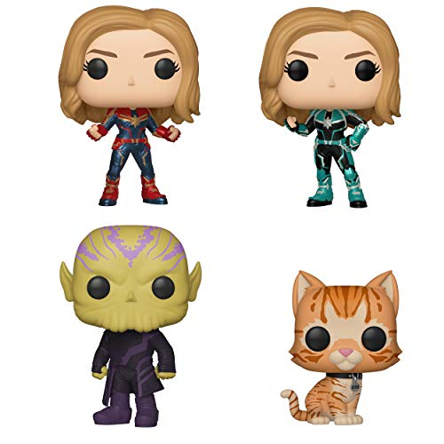 Funko POP! Marvel Captain Marvel Collectors Set- ASSORTED (Captain Marvel Possible Limited Chase Edition Vers, Talos, Goose The Cat)