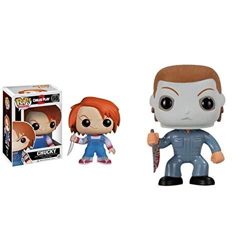 Funko POP Movies: Chucky Vinyl Figure & 2296 Pop Movies: Halloween - Michael Myers Action Figure