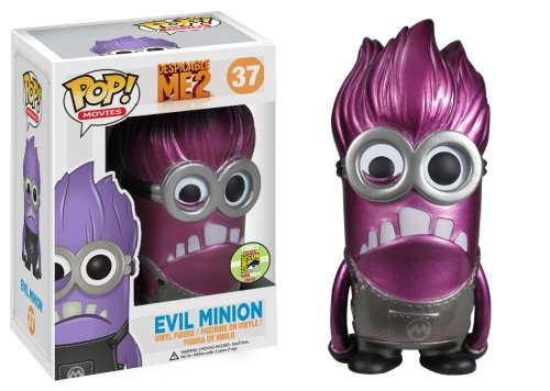 Funko POP Movies Despicable Me Purple Minion Metallic Vinyl Figure (SDCC Exclusive)