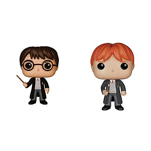 Funko POP Movies: Harry Potter Action Figure, Standard & Harry Potter Ron Weasley Action Figure, Standard, 3.75 inches