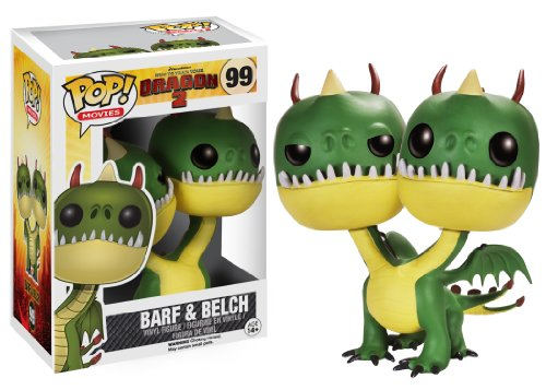 """Funko POP! Movies: How to Train Your Dragon 2 - Belch and Barf,Multi-colored,3 3/4"""""""